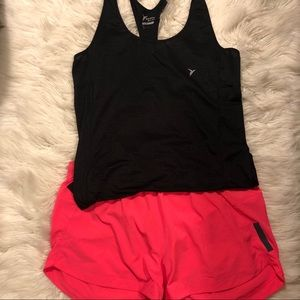 Black slim fit exercise tank top from old navy